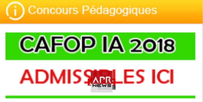 Cote D Ivoire Resultats Du Concours De Cafop Ia 2018 2019 Premier